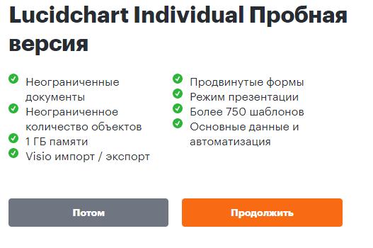 Заставка программы создания диаграмм Lucidchart