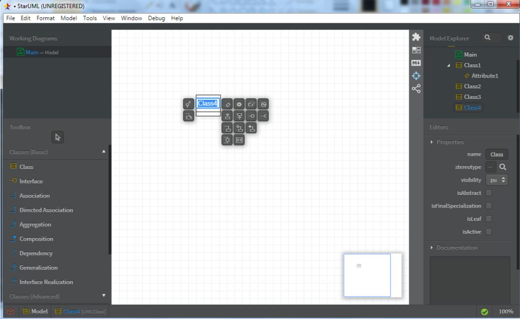 Построение UML диаграмм - элемент класс и его окружение