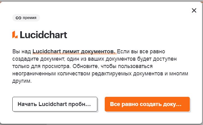 Форма лимита Lucidchart